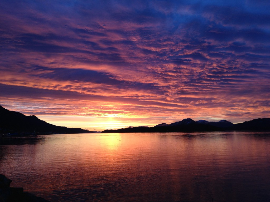 Sunset Ketchikan, Alaska 12-12-12